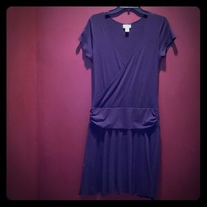 Great V-Neck Black Cotton Dress